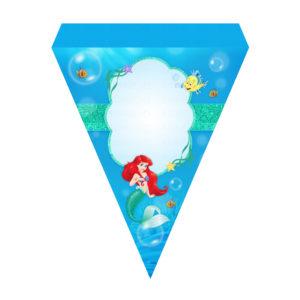 Bandeirinha de Letras Pequena Sereia Grátis