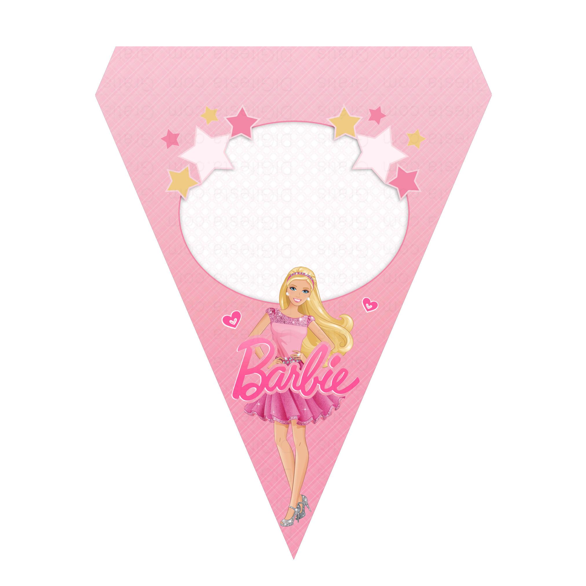 Bandeirinhas de Letras Barbie Grátis