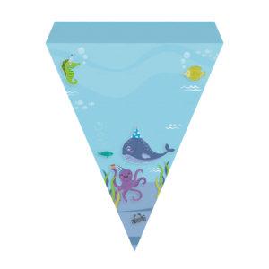 Bandeirinhas de Letras Fundo do Mar Grátis