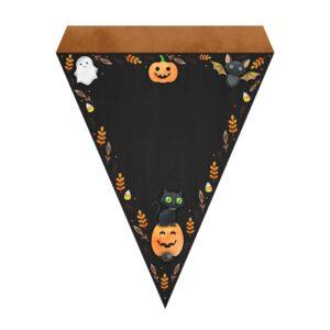 Bandeirinhas de Letras Halloween Grátis