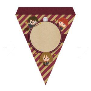 Bandeirinhas de Letras Harry Potter Grátis