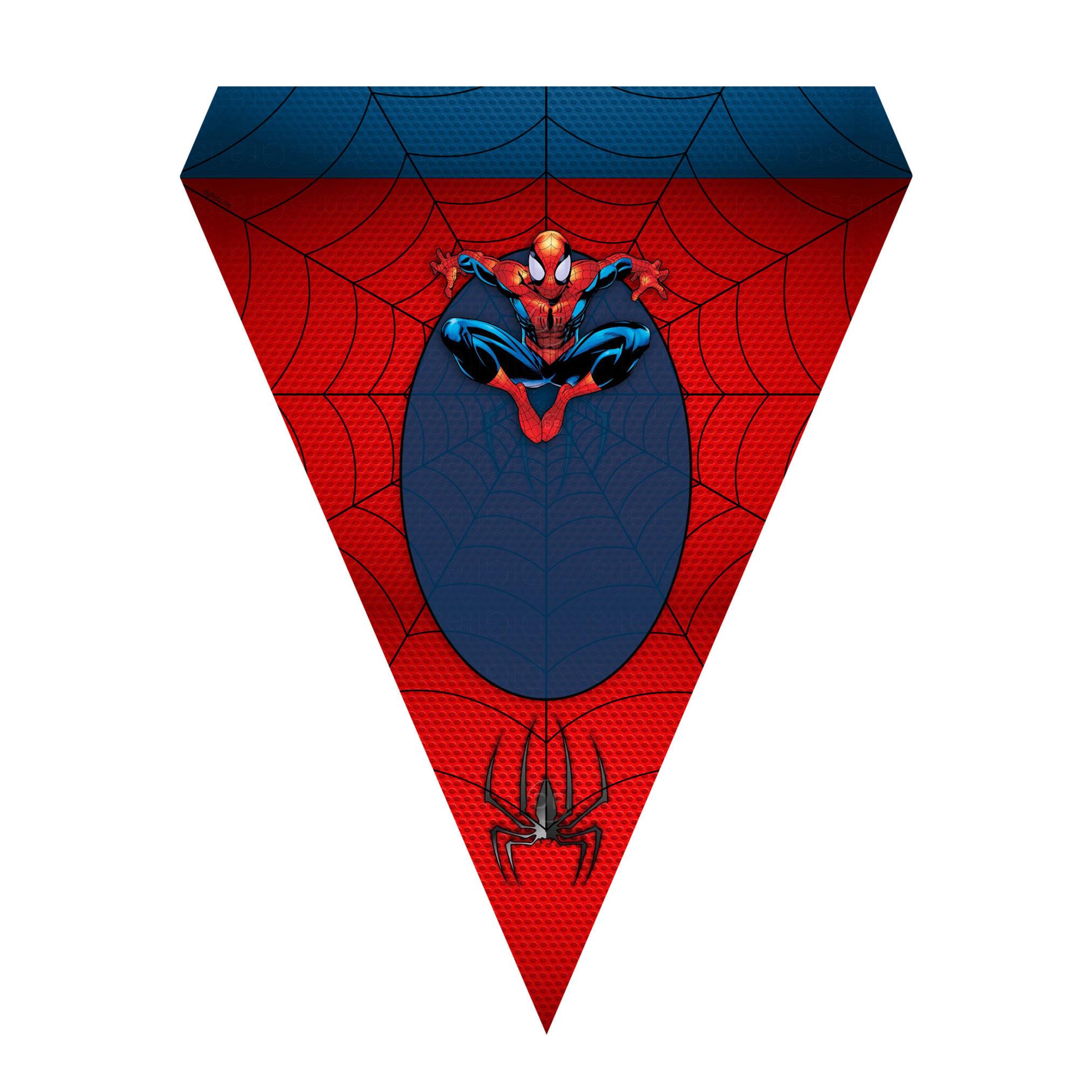 Bandeirinhas de Letras Homem-Aranha Grátis