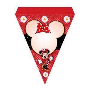 Bandeirinhas de Letras Minnie Vermelha Grátis