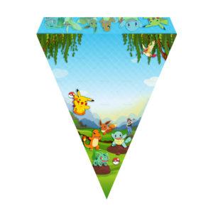 Bandeirinhas de Letras Pokémon Grátis