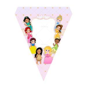 Bandeirinhas de Letras Princesas Grátis
