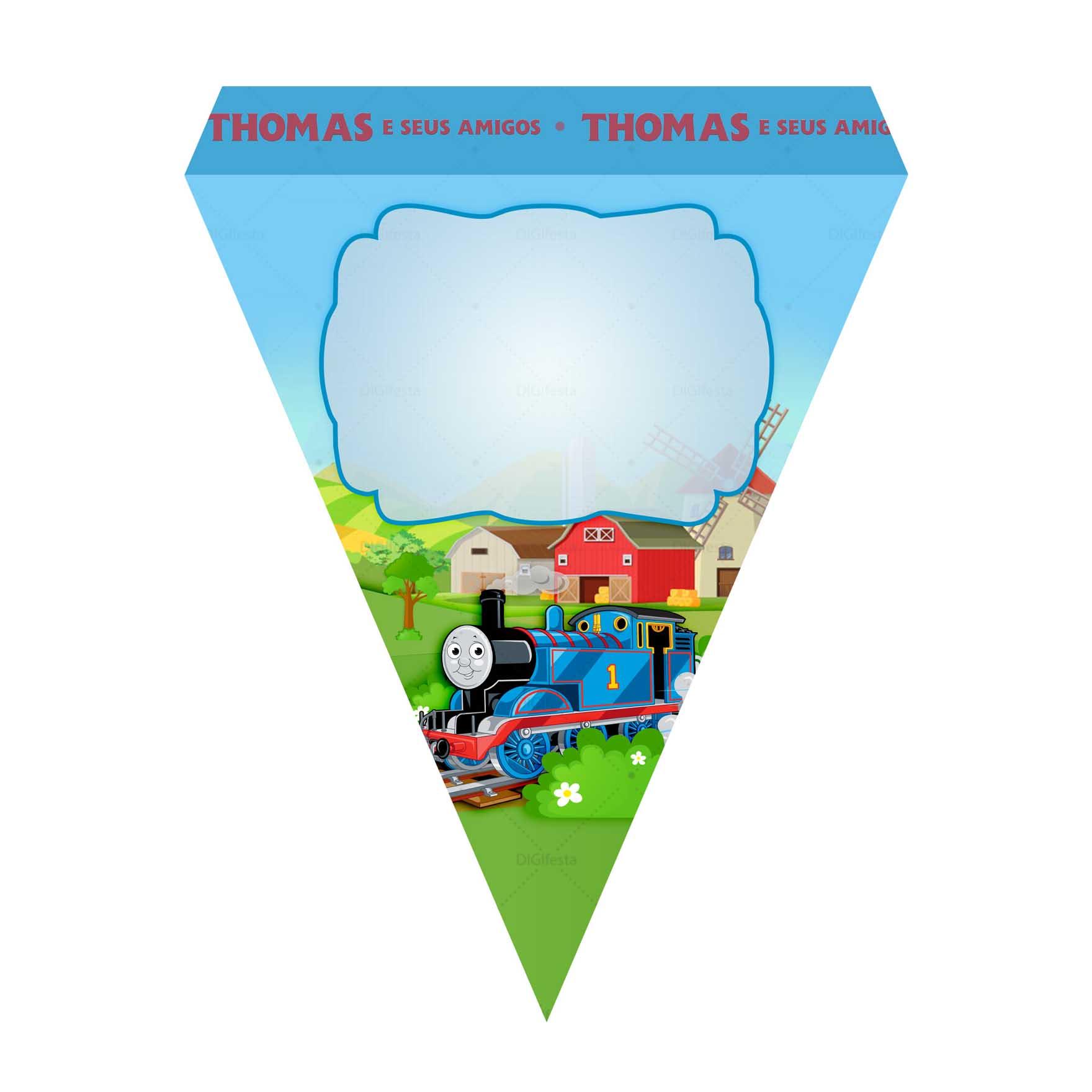 Bandeirinhas de Letras Thomas e seus Amigos Grátis