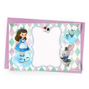 Convite Alice Personalizado
