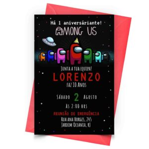Convite Among Us Personalizado