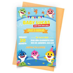 Convite Baby Shark Editado