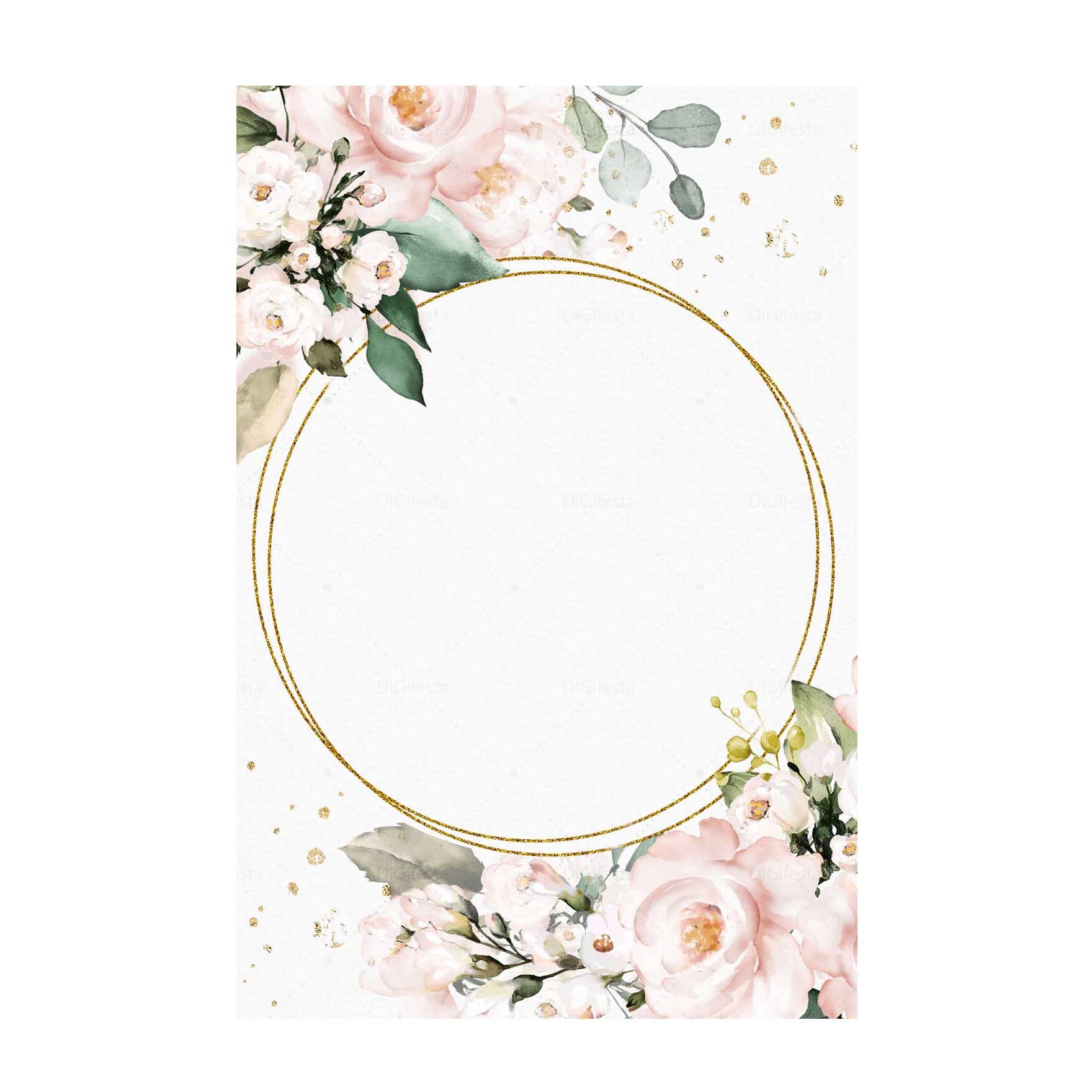 Convite Glitter Floral Grátis para Editar e imprimir