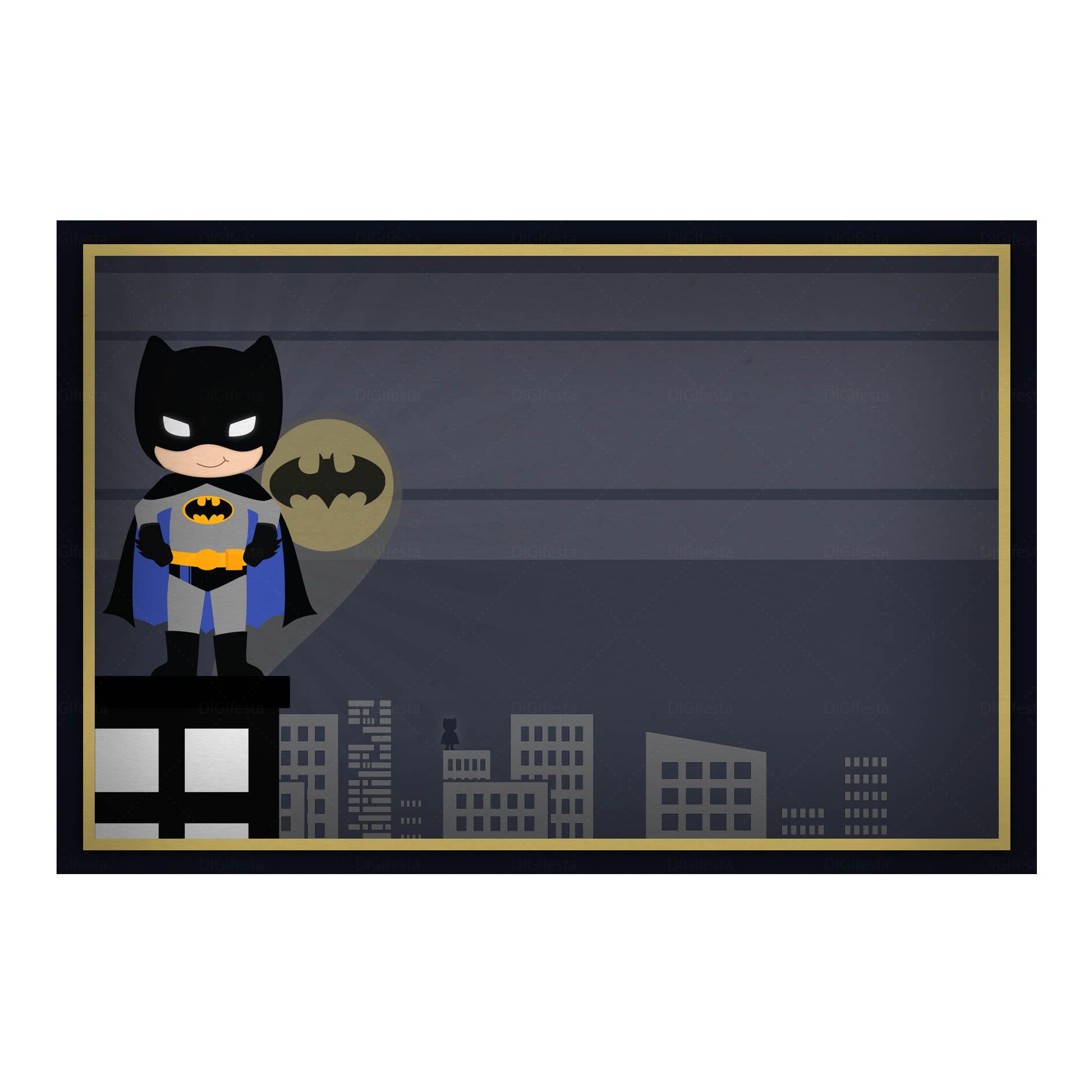 Convite Batman Grátis