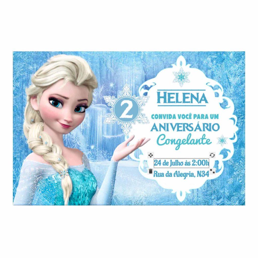 Convite Editado Frozen Gratis TB