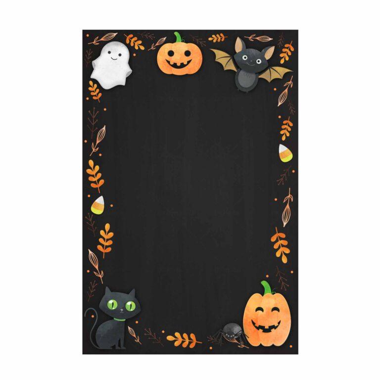Convite Halloween Grátis para Editar e imprimir