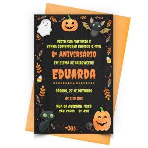 Convite Halloween Personalizado 1