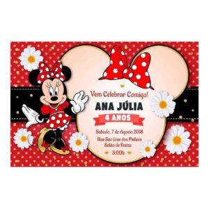 Convite Minnie Vermelha Editado
