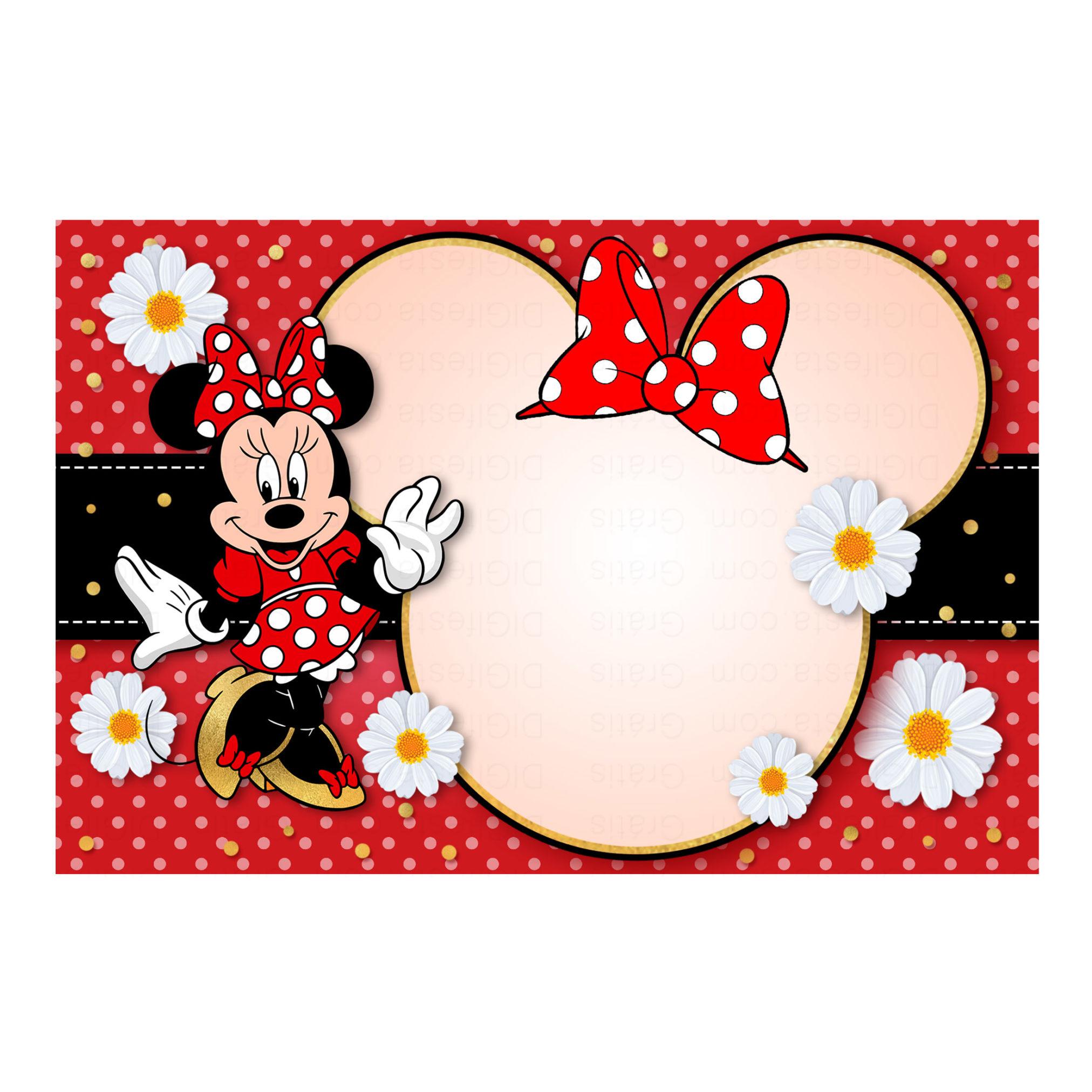 Convite Minnie Vermelha Grátis