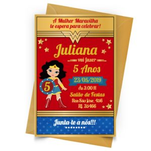 Convite Mulher Maravilha Personalizado2