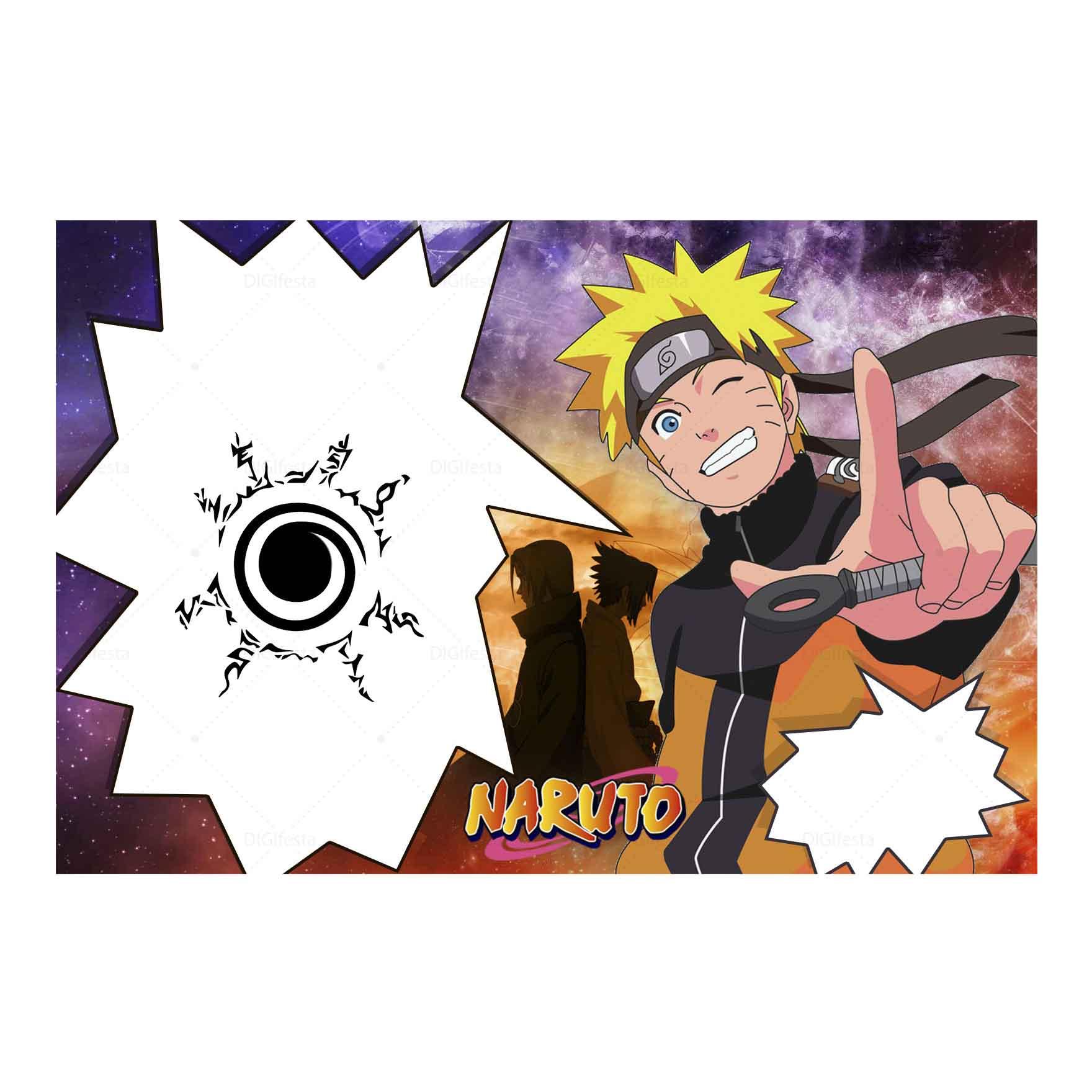 Convite Naruto Gratis para editar e imprimir