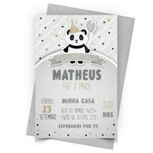 Convite Panda Personalizado