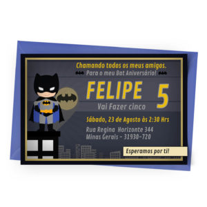 Convite Personalizado Batman 2