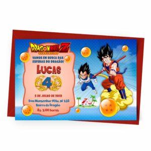 Convite Personalizado Dragon Ball 1