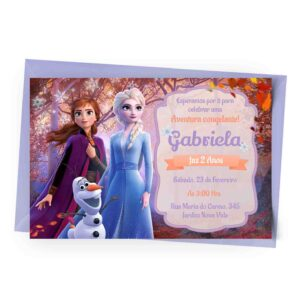 Convite Personalizado Frozen 1
