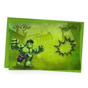 Convite Personalizado Hulk