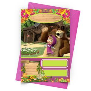 Convite Personalizado Masha e o Urso