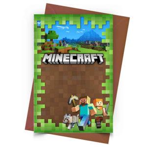 Convite Personalizado Minecraft