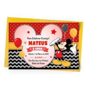 Convite Personalizado Online Mickey