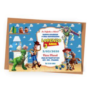 Convite Personalizado Toy Story