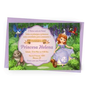 onvite Princesa Sofia Personalizado 1