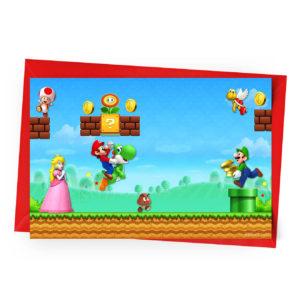 Convite Super Mario Personalizado
