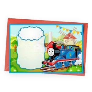 Convite Thomas e os Seus Amigos Personalizado
