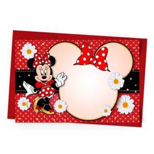 Convite Minnie Vermelha Personalizado