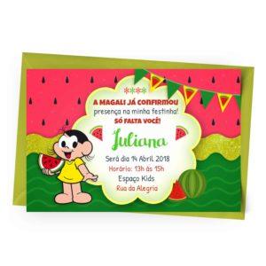 Convite Magali personalizavel
