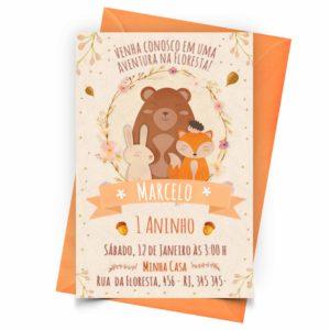 Personalizar Convite Animais da Floresta