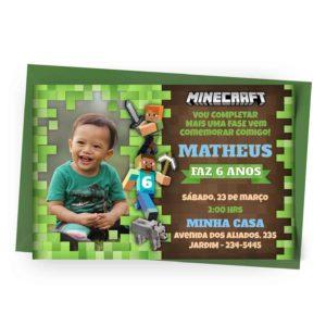 Personalizar Convite Minecraft 1