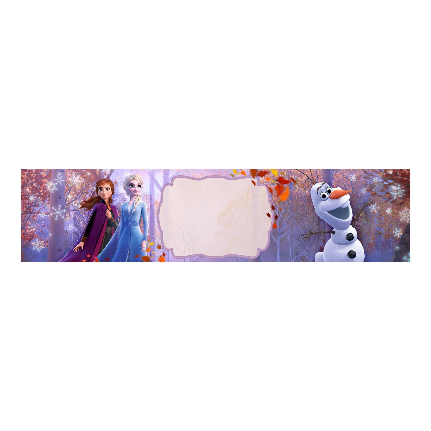 Rótulo Frozen 2 Grátis