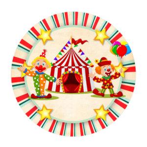 Rodelinha Circo Vermelho Grátis