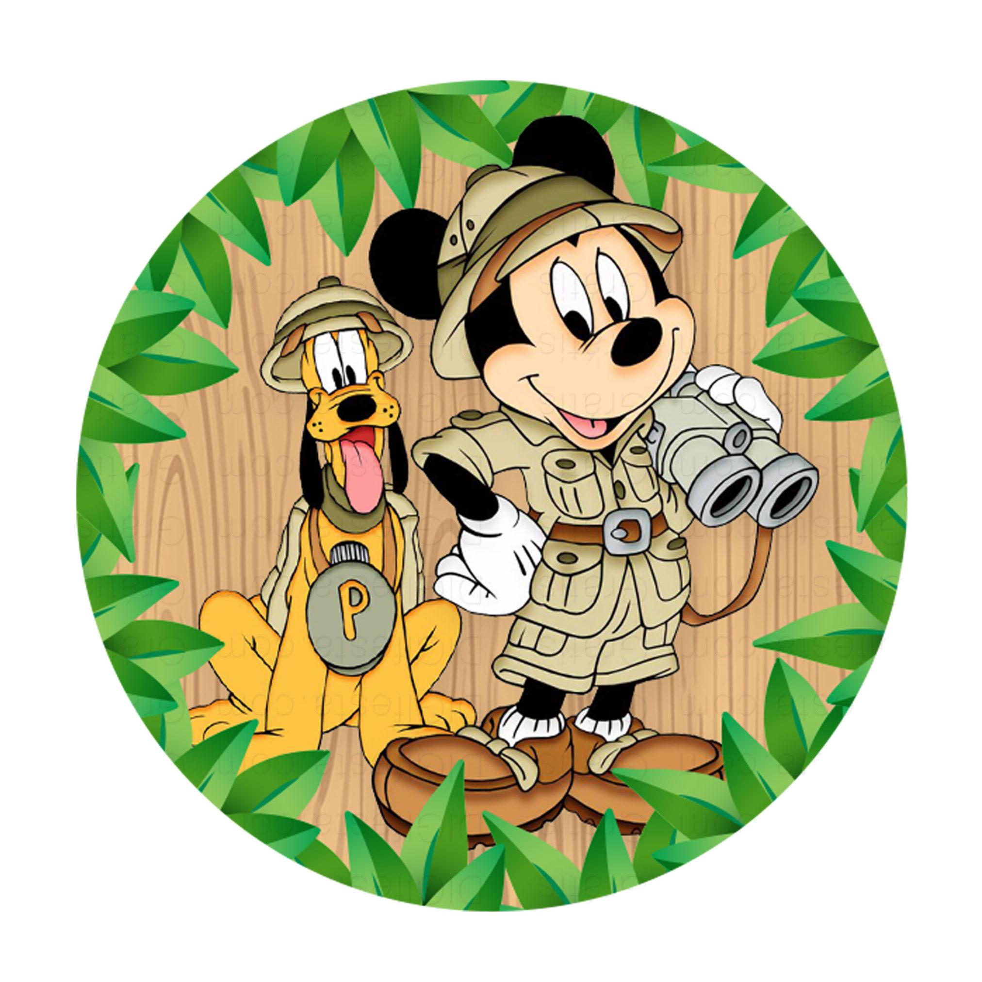 Convites Mickey Safari Gratis Para Editar E Imprimir Digifesta