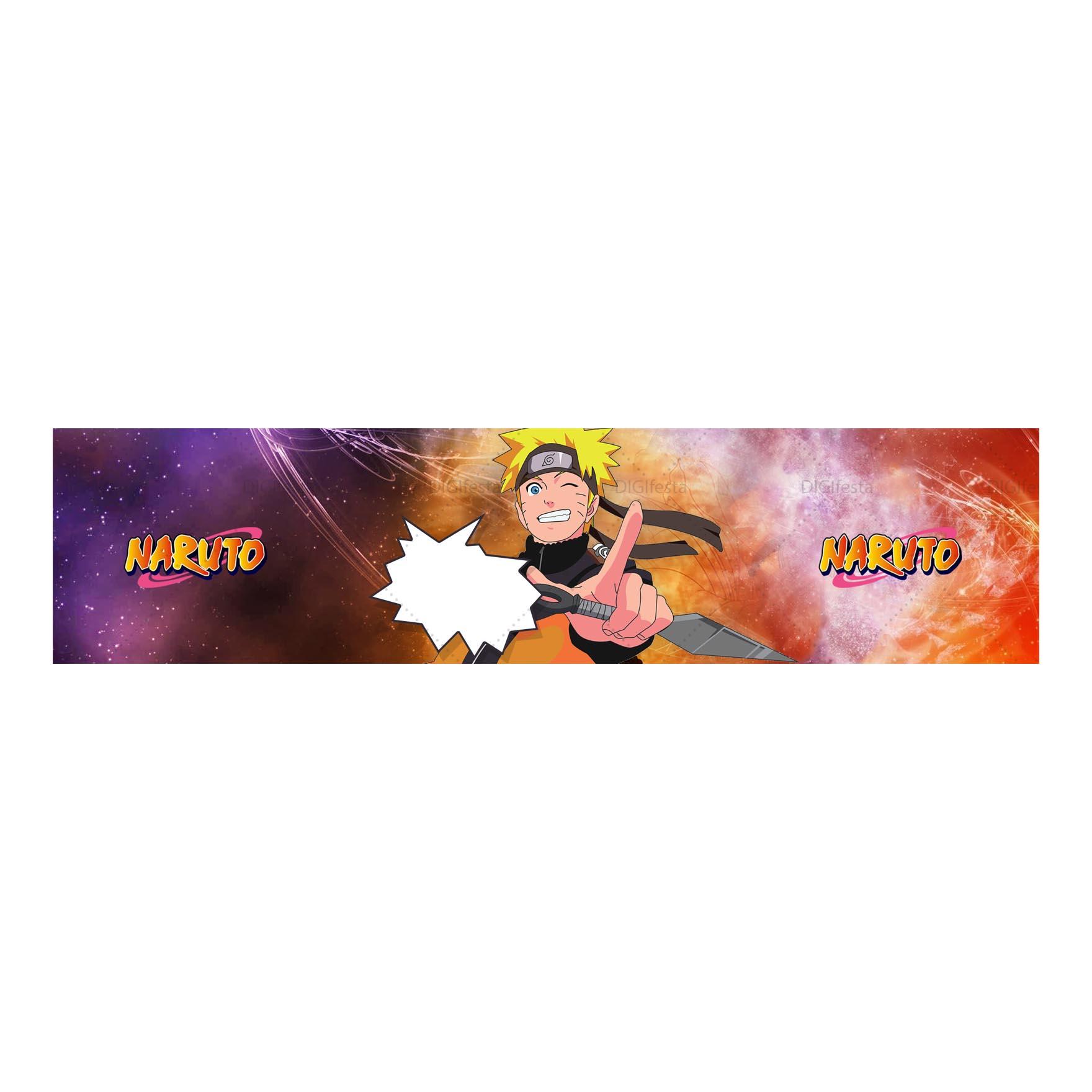 Rotulo Naruto Grátis para imprimir