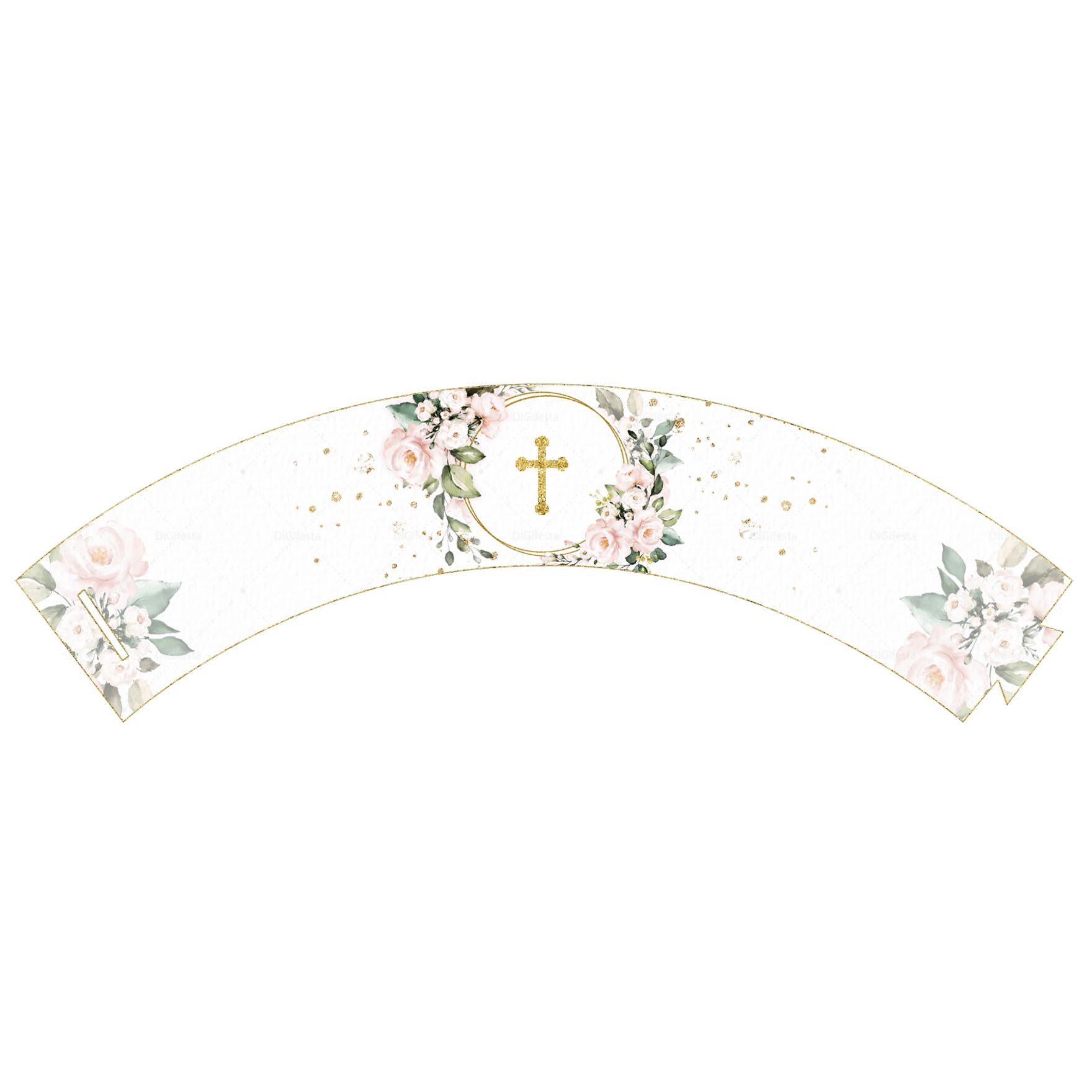 Saia de Cupcake Glitter Floral Grátis