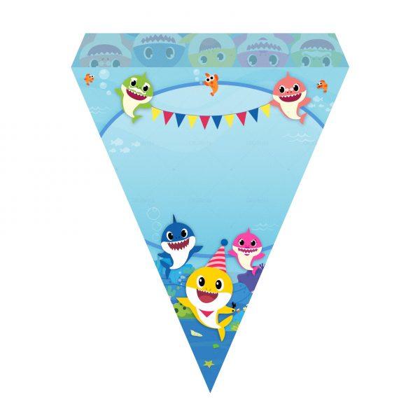 Bandeirinha de Letras Baby Shark Grátis