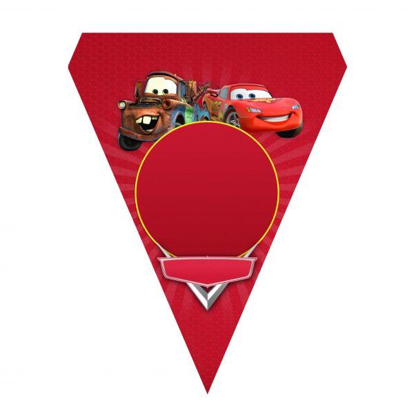 Bandeirinha de Letras Carros Grátis