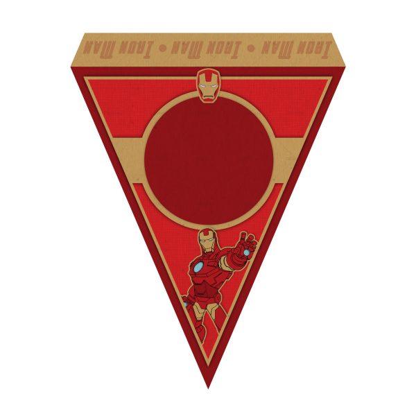 Bandeirinhas de Letras Homem de Ferro Grátis
