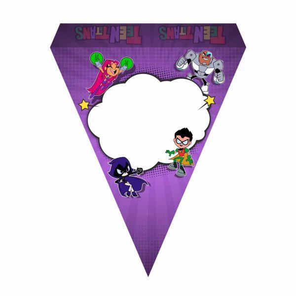 Bandeirinhas de Letras Jovens Titãs