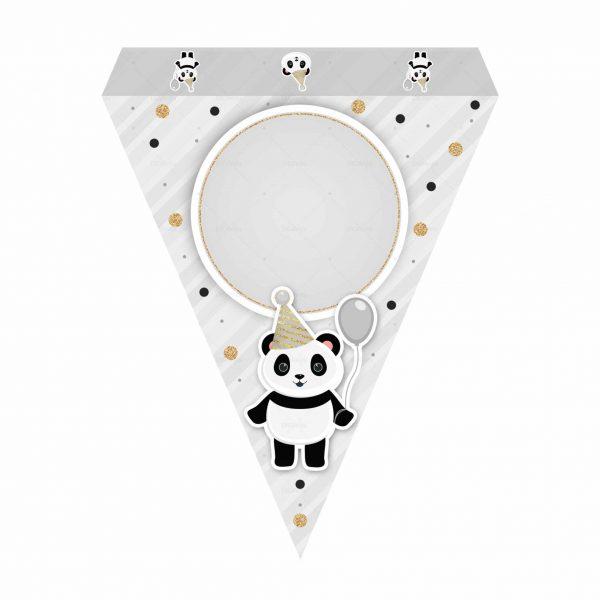 Bandeirinhas de Letras Panda Grátis