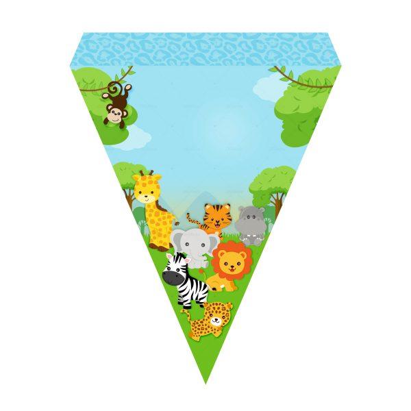 Bandeirinhas de Letras Safari Grátis