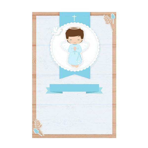 Convite Batizado Anjinho Azul Grátis